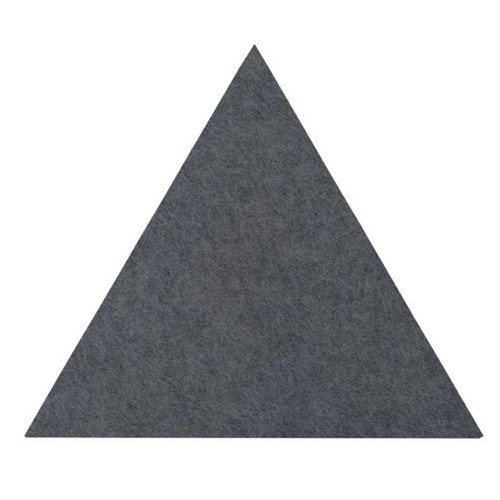 "Wall-Mounted SoundSorb Acoustic Panels 12"" Flat Triangle Dark Gray High Density Polyester"