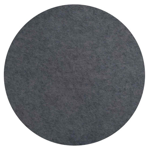 """Wall-Mounted SoundSorb Acoustic 24"""" Flat Circle Dark Gray High Density Polyester"""