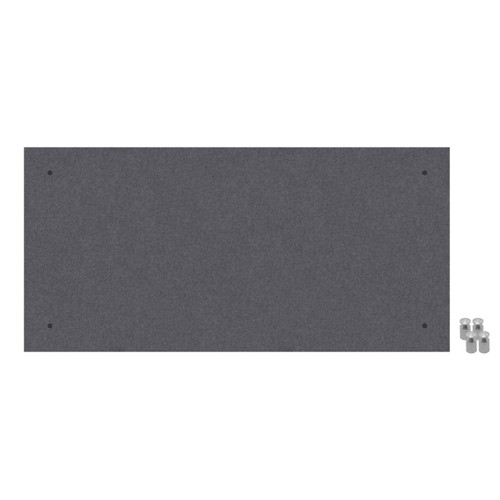 Wall-Mounted Standoff SoundSorb Acoustic Panels 2' x 4' Dark Gray High Density Polyester