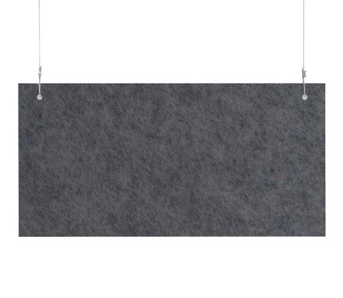 "SoundSorb Hanging Acoustic Baffles 24"" x 12"" Dark Gray High Density Polyester"