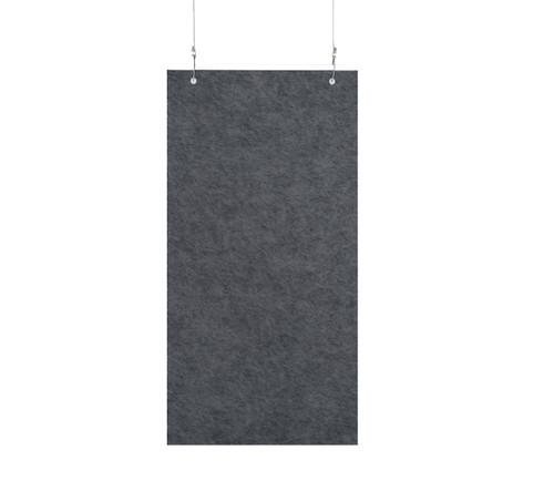 "SoundSorb Hanging Acoustic Baffles 12"" x 24"" Dark Gray High Density Polyester"