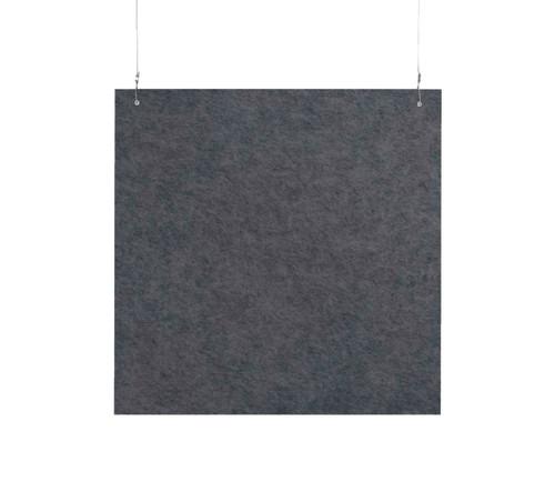 "SoundSorb Hanging Acoustic Baffles 24"" x 24"" Dark Gray High Density Polyester"