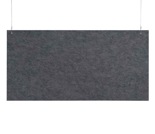 "SoundSorb Hanging Acoustic Baffles 48"" x 24"" Dark Gray High Density Polyester"