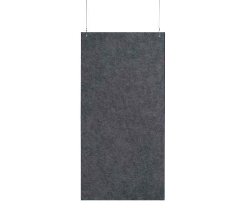 "SoundSorb Hanging Acoustic Baffles 24"" x 48"" Dark Gray High Density Polyester"