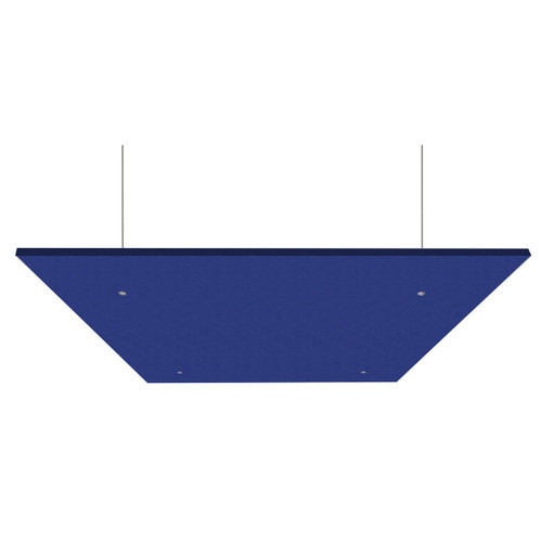 """SoundSorb Acoustic Canopy Panels 24"""" x 24"""" Blue High Density Polyester"""