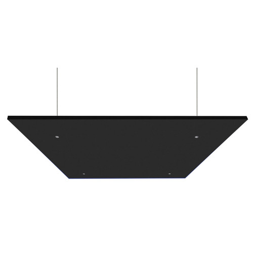 "SoundSorb Acoustic Canopy Panels 24"" x 24"" Black High Density Polyester"