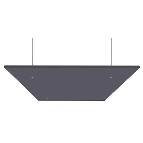 "SoundSorb Acoustic Canopy Panels 24"" x 24"" Dark Gray High Density Polyester"