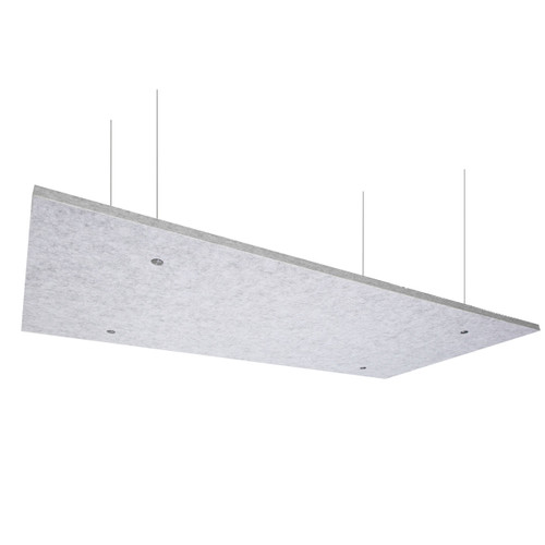 """SoundSorb Acoustic Canopy Panels 24"""" x 48"""" Marble Gray High Density Polyester"""