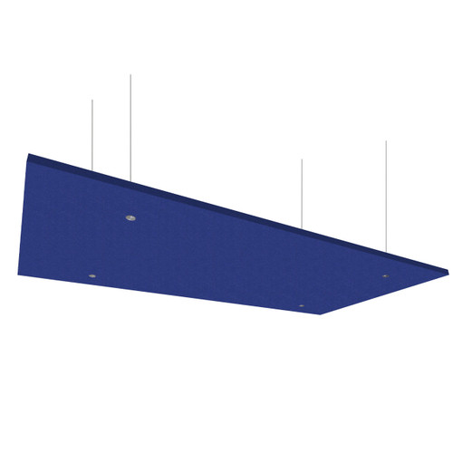 """SoundSorb Acoustic Canopy Panels 24"""" x 48"""" Blue High Density Polyester"""
