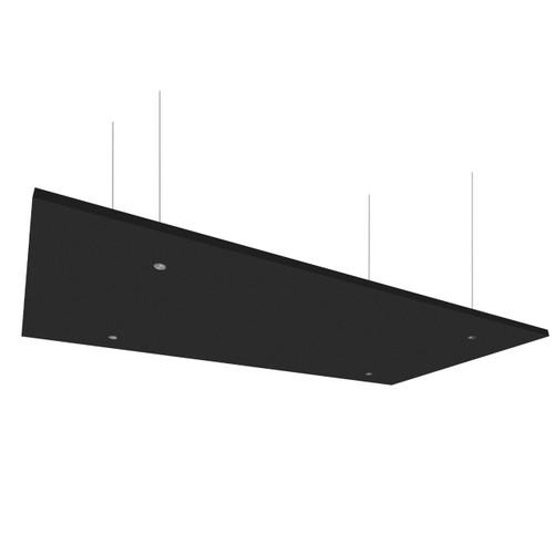 "SoundSorb Acoustic Canopy Panels 24"" x 48"" Black High Density Polyester"