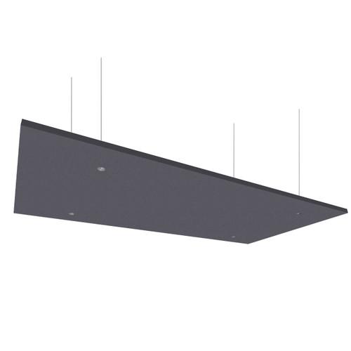 "SoundSorb Acoustic Canopy Panels 24"" x 48"" Dark Gray High Density Polyester"