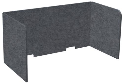 "SoundSorb Tri-Fold Desktop Privacy Panels 48"" x 24"" x 24"" Dark Gray High Density Polyester"