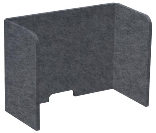 "SoundSorb Tri-Fold Desktop Privacy Panels 24"" x 18"" x 12"" Dark Gray High Density Polyester"