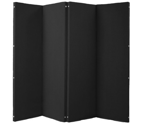 "VersiFold Acoustical Room Divider 8' x 6'6"" Black Fabric"