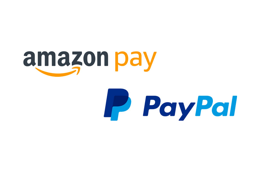 PayPal and Amazon Pay are accepted for online orders