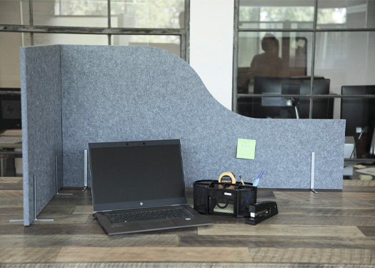 The SoundSorb Work Forts make it easy to obtain privacy on any open table, counter or desk.