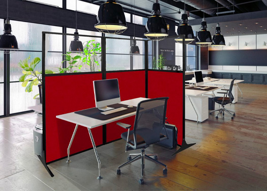 The Work Station Screen can be purchased with 1 panel, 2 panels or 3 panels depending on the configuration needed.