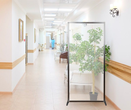 The MediPanel is easy to move around hospitals or clinics due to the lightweight construction.