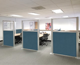 Customize your cubicle setup with the Hush Panel Configurable Cubicle system.