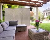 Outdoor Privacy screen on a backyard patio