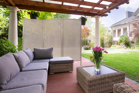 The Folding Outdoor Privacy Screen is the perfect patio, deck or outside divider to give you privacy from neighbors.