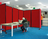 Red fabric Room Divider 360
