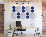 Block out sound in style with the Wall-Mounted Acoustic shapes!