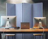 The VersiFold is the acoustical partition you need to block out any unwanted sound while you