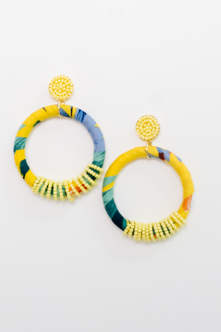 Tropical Yellow Hoops