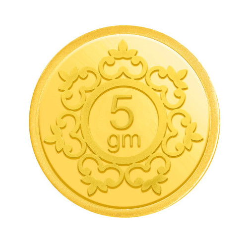 5 GRAMS 24K (999) YELLOW GOLD PRECIOUS COIN