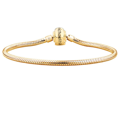 Diamond Set & 10ct Yellow Gold Charm Bracelet