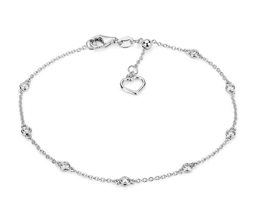 Diamond Station and Heart Bracelet