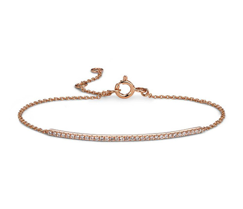 Delicate Diamond Bar Bracelet