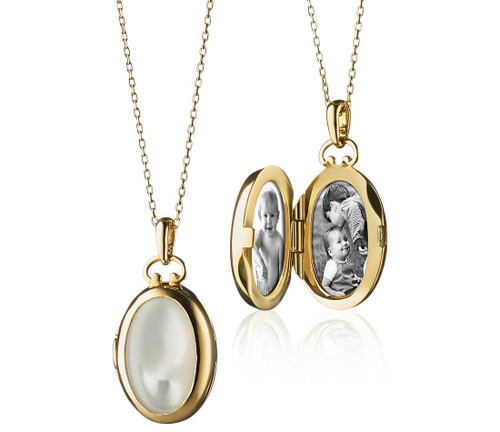 Pearl Oval Locket