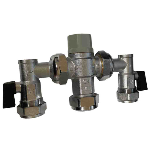 Altecnic Thermostatic Mixing Valve with MX Service Valves, 15mm