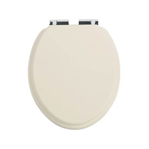 Heritage Oyster Toilet Seat with Soft Close Chrome Hinges