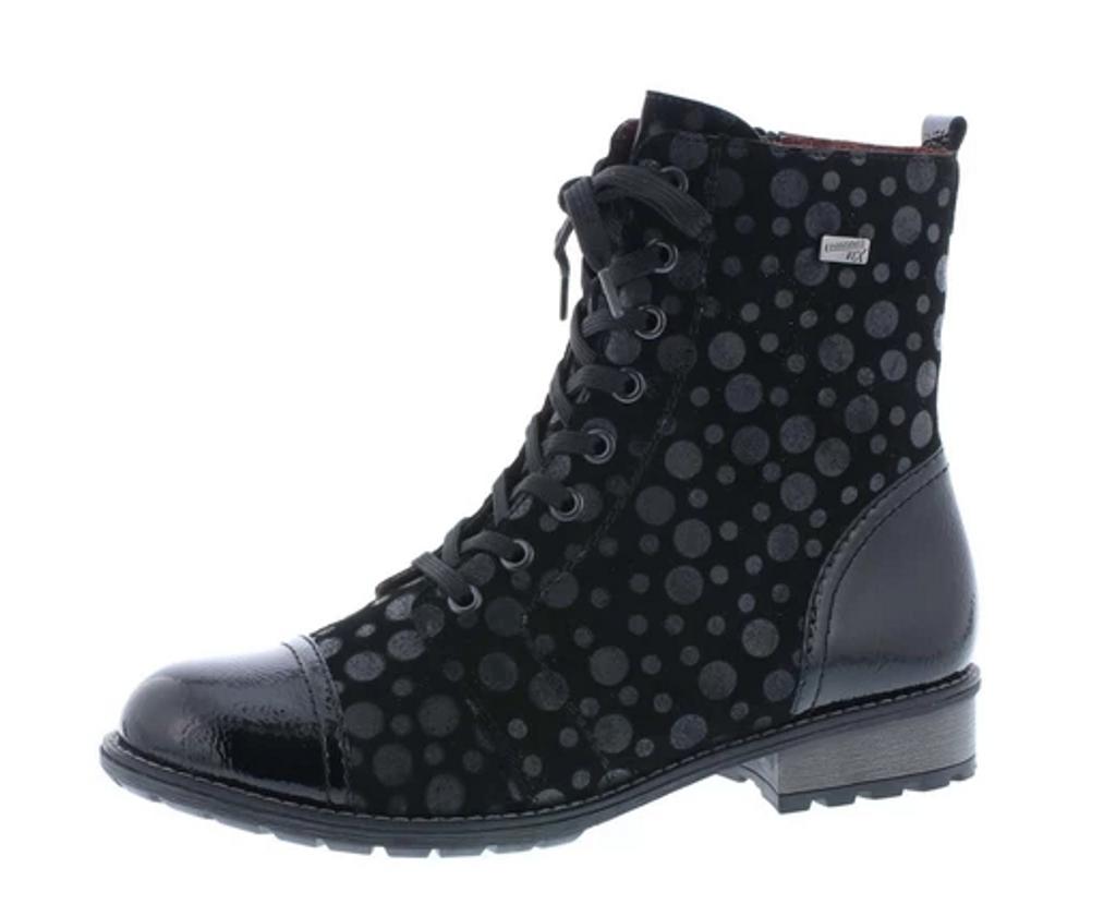 GRANNY BOOT WP PRINT BLACK R3309-02