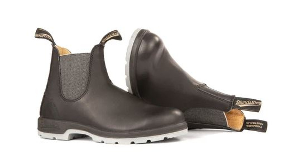 Blundstone 1943- Leather Lined Classic Black Grey Sole