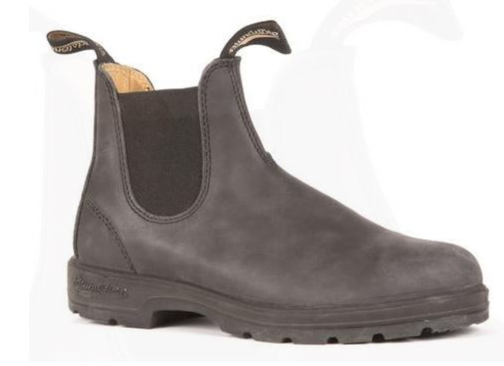 BLUNDSTONE 587 - The Leather Lined in Rustic Black Mens