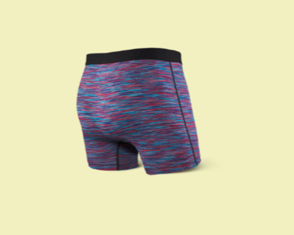 VIBE BOXER BRIEF - RED/BLUE SPACE DYE