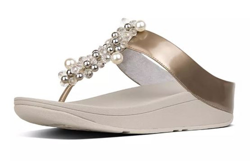 DECO TOE THONG SANDALS SILVER