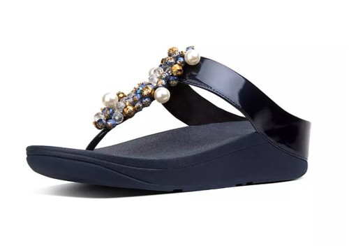 DECO TOE THONG SANDALS NAVY
