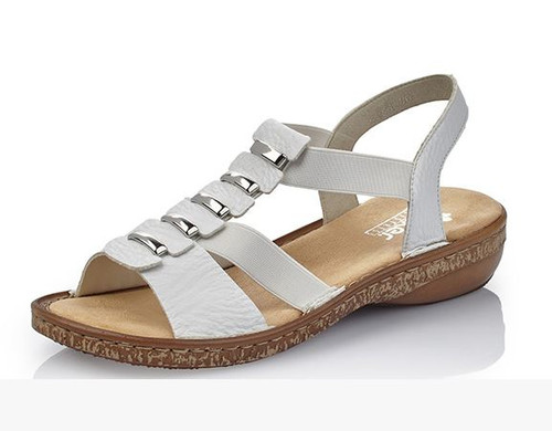SANDAL ELASTIC CENTRE METAL WHITE 62850-80