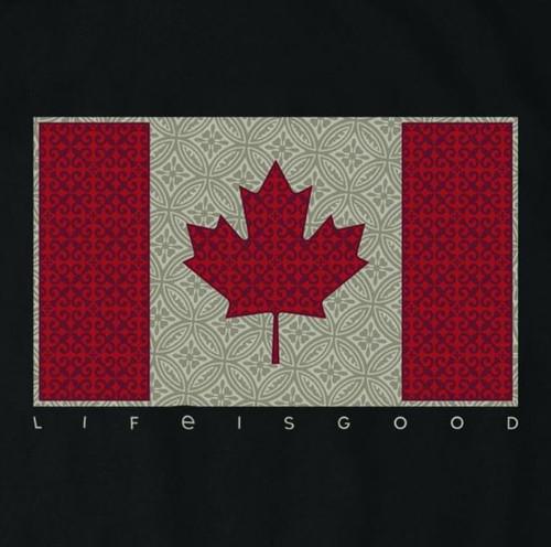 M CRUSHER TEE CANADA FLAG NIGHT BLACK