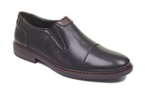 SLIP ON DRESS SHOE CAP TOE BLACK 17659-00