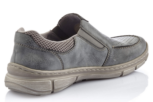 SLIP ON CASUAL PERF FRONT ASPHALT