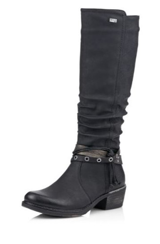 WP TALL BOOT STRAPS AND RUCHING BLACK R1170-01
