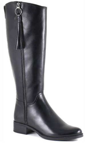 TALL LEATHER BOOT OUTSIDE ZIP DETAIL SONIA