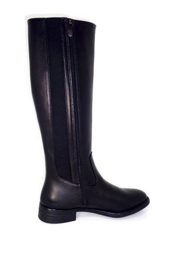 TALL LEATHER BOOT SIDE GORE