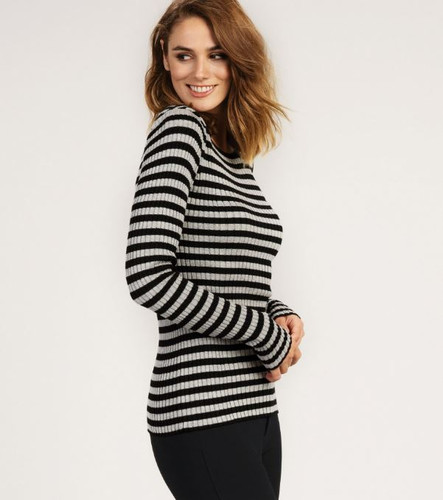 JACKIE RIBBED TOP (F19GNL1313)